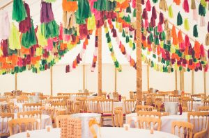 Amazing tassel decorations in traditional marquee
