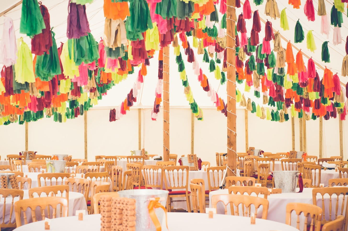 Amazing Tassel Decorations In Traditional Marquee The Marquee Hire
