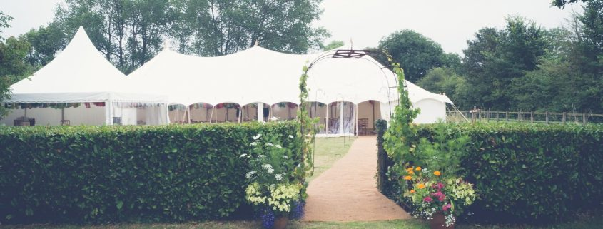 Traditional marquee with oriental canopy