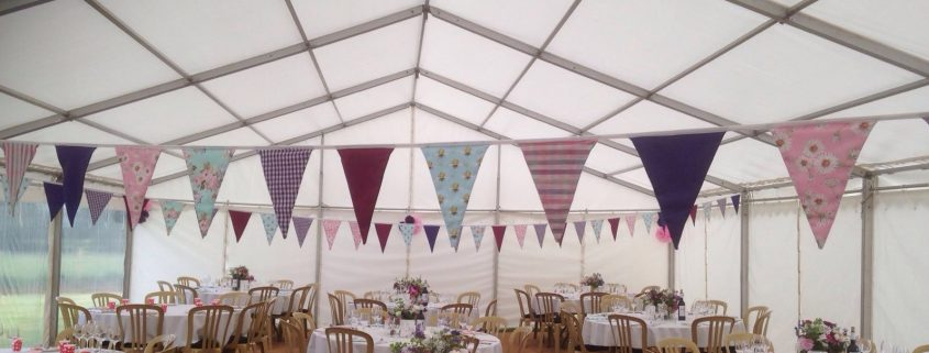 Unlined clearspan framed marquee