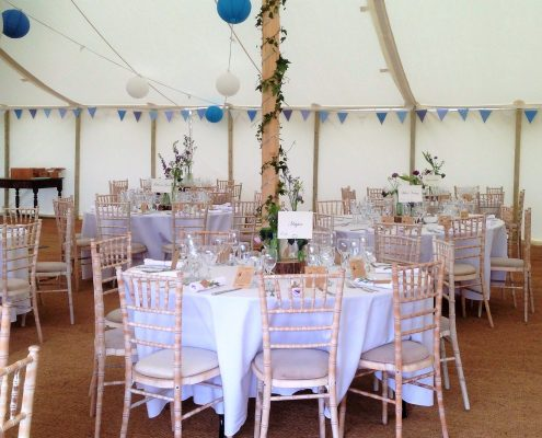 Traditional with decorated tables