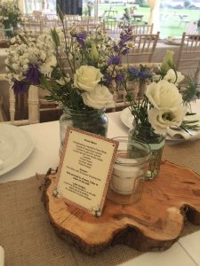 Rustic table decorations
