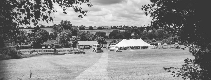 View of traditional marquee