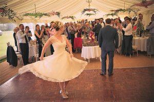 Oak parquet dance floor