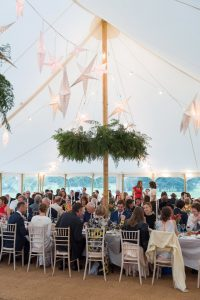 Interior of Petal Pole Traditional Marquee