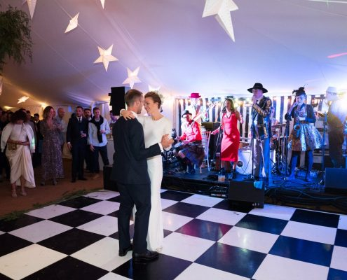 Black & White dance floor in Traditional Marquee